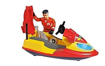 Sam El Bombero - Juno, Moto de Agua con Figura y Accesorios, Color Rojo