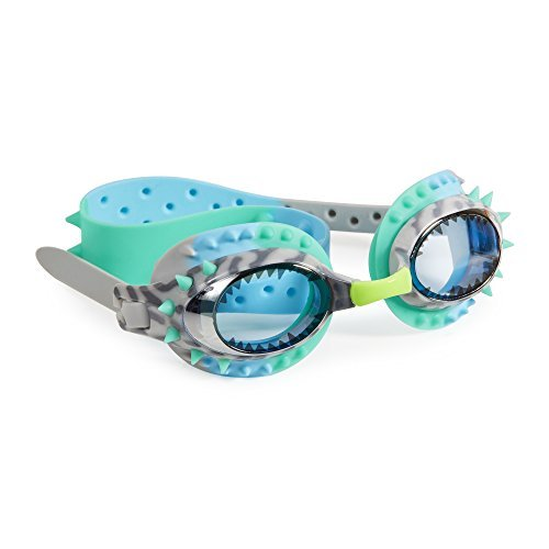[Swimming Goggles For Boys - Prehistoric Times Kids Swim Goggles By Bling2o (Raptor Blue Grey)] (Google Glass Costume)