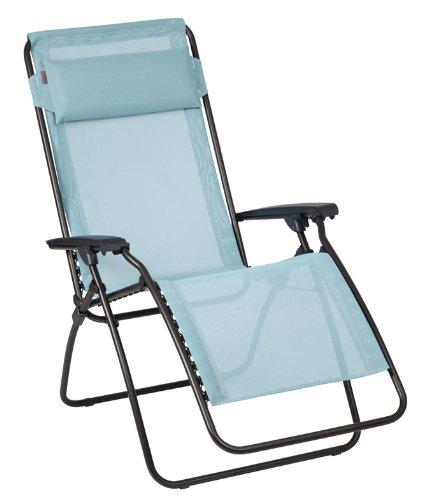 Lafuma LFM4007-6453 Relax-Liegestuhl, klappbar und verstellbar, R-Clip, arctic hellblau