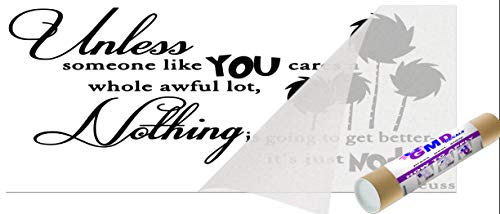GMDdecals UNLESS Dr Seuss Inspired Quote Vinyl Wall Decal [BLACK] Lorax Truffula Trees Design 28