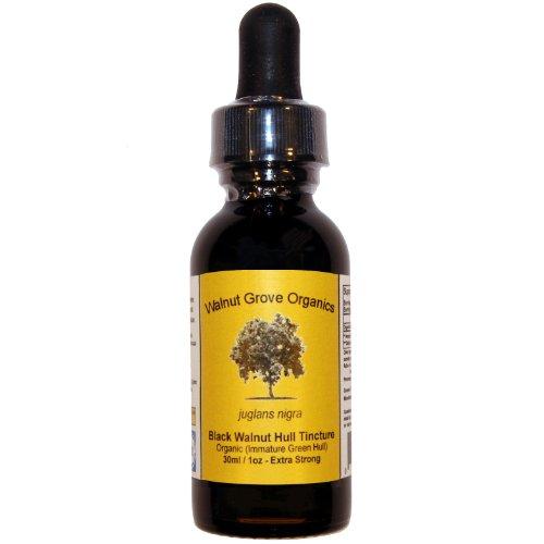 Walnut Grove Organics 1 fl oz / 30 ml frais biologiques vert Black Walnut Teinture flacon compte-gouttes