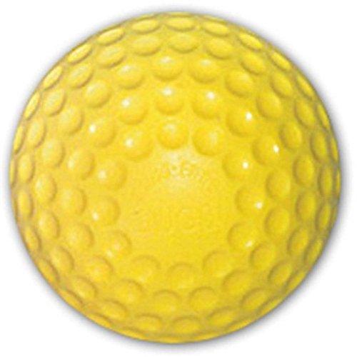 Jugs Sting Free Yellow Dimpled Pitching Machine Baseballs - 1 dozen