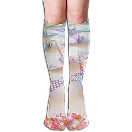 19.68 Inch Compression Socks Origami Papercraft High Boots Stockings Long Hose For Yoga Walking For Women Man