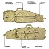 Elkton Outdoors Tactical Rifle Drag Bag, Long Gun, Shotgun, Hunting Rifle Case with Backpack Straps, 40-Inches, Tan