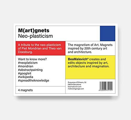 Beamalevich Pack de imanes Neoplasticismo - Imanes de nevera ...