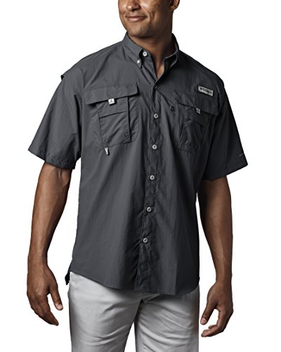 Columbia Men's PFG Bahama II Short Sleeve Shirt, Black, Large Bonehead Short Sleeve Shirt