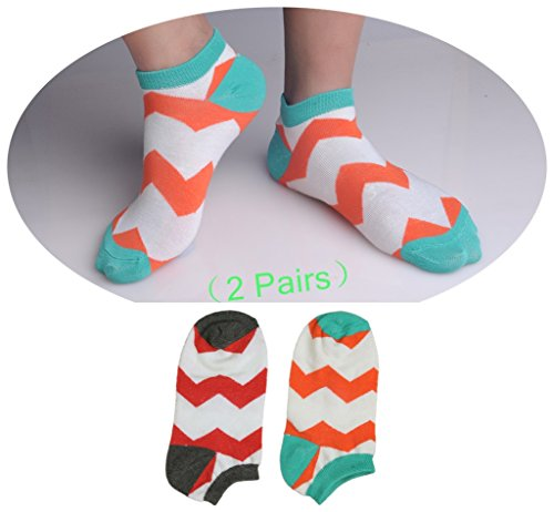 [Socks Funky No Show for Young 2 Pairs #IH5495 NM328C11] (Jackie Nurse Shoes)