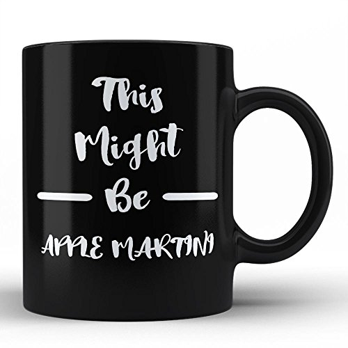 Apple Gift Martini (Funny Sarcastic Mug For Apple Martini Lover Gift for Apple Martini Drinker Cocktail Alcohol Humour Black Coffee Mug By HOM For Friends Family Neighbours Fellas Unique Gifting Idea)