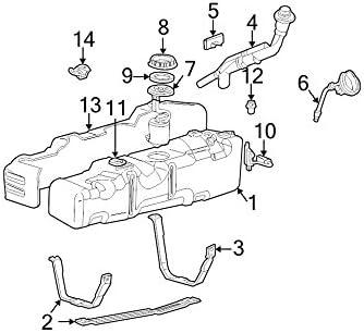 Amazon Com 1999 2004 Ford F250 F350 F450 F550 Super Duty Front Fuel Tank Strap Oem New Yc3z 9054 Da Automotive
