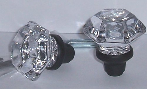 A Pair of Six Point Princess Old Town 24% Lead Crystal Interior Passage Knobs with OIL Rubbed Bronze Stem Over Solid Brass. Our Excicting New Reproduction of the Original Old Town Knobs. Previously Only Available At a Much Higher Price Points