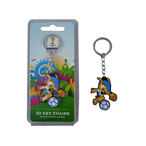Fuleco PVC Keychain - The official mascot of the 2014 FIFA World Cup (Mascot Key Ring)