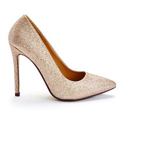 Stiletto femme de Nude Occasion Sparkle pour Chaussures Mariage Sparkle Talon ET7WPZwq