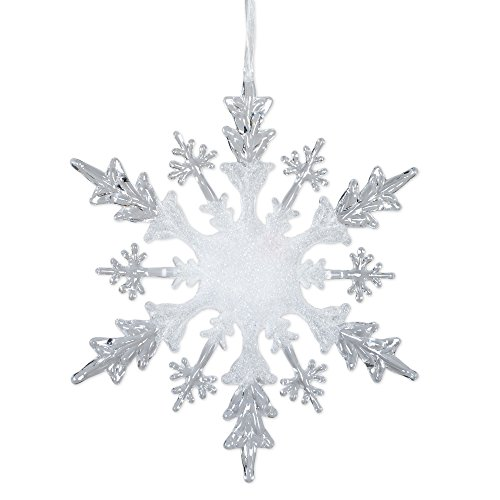 Ice Crystal Snowflake LED Light-up 12 inch Christmas Ornament Decoration