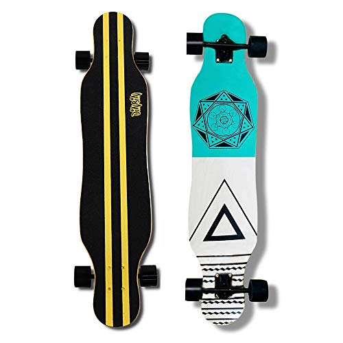 DINBIN 41 Inch Drop Through 8 Ply Maple Complete Longboards Skateboard Dancing