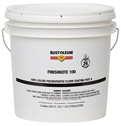 Rust-Oleum 283618 Clear FinishKote Concrete Saver 100 100% Solids Polyaspartic Floor Coating, Part A, 2 gal Can by Rust-Oleum