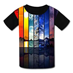 Changing Seasons Child Short Sleeve Fashion T-Shirt Of Boys And Girls