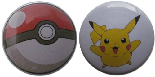 Pikachu & Pokéball 1.25 Inch Magnet Set (Jessie From Team Rocket)