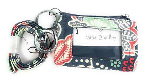 (Vera Bradley Zip Id Case and Lanyard in Nomadic Floral)