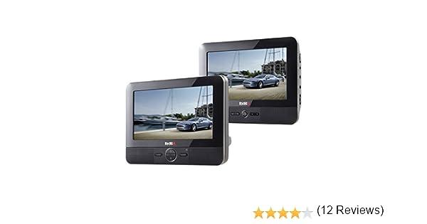 BSL 7D - DVD Portátil para coche, 2 Pantallas (LCD TFT 7 pulgadas), USB, lector de tarjetas SD, color negro: Amazon.es: Electrónica