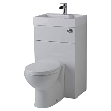 Milano Linton Combination Toilet & Bathroom Basin Unit Ready Assembled &  Easy Installation with 5 Years