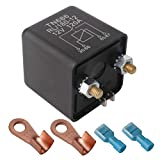 ARTGEAR Automotive Relays for Car Truck Motor Boat Car Starter - 12V DC 120 Amp Split Charge Relay Switch with 2 Pin Footprint + 2 Terminal