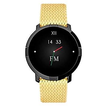 Florence Marlen Smartwatch Hombre-Mujer FM1R Roma Correa en Tejido Beige| Bluetooth Pantalla táctil Impermeable| Cardiofrecuencímetro, Podómetro| ...