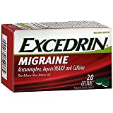 Excedrin Migraine Pain Reliever/Pain Reliever Aid - 20 Geltabs, Pack of 4