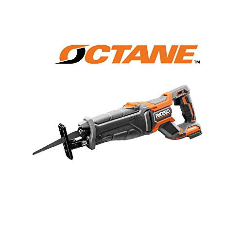 - Ridgid R8643B Octane 18V Lithium Ion Cordless Brushless Reciprocating Saw w/ Included Blade and LED Lighting (Battery Not Included / Power Tool Only)