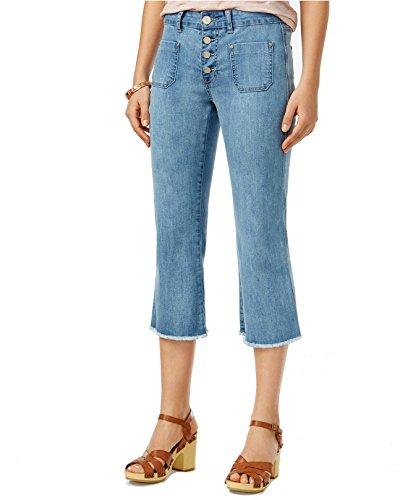 Button Fly Cropped Jeans (Indigo Rein Junior's Light Blue Button-Fly Cropped Jeans (Blue, 11))