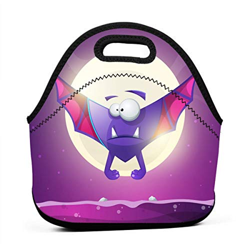 Lunch Bag for Men-Bat Vampire Cartoon Horror Characters Lunch Bags for Women kids Lunchbox Reusable Sandwich Bags Lunch Tote for Camping -
