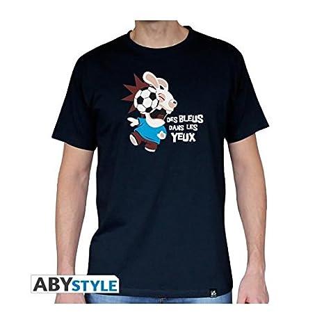 ABYstyle abystyleabytex274-xxl Abysse Lapins Cretins pie de manga corta Hombre basic camiseta (2