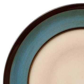 Gourmet Basics Belmont Round Blue Stalks Dinnerware Set 16 Piece