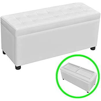 Amazon Com Best Selling Guernsey Leather Storage Ottoman