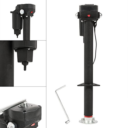 ARKSEN 12-Volt, Electric Power Tongue, A-Frame RV Trailer Jack, Adjustable Height - 3500 LB (Bulldog Dual Rv Jack compare prices)