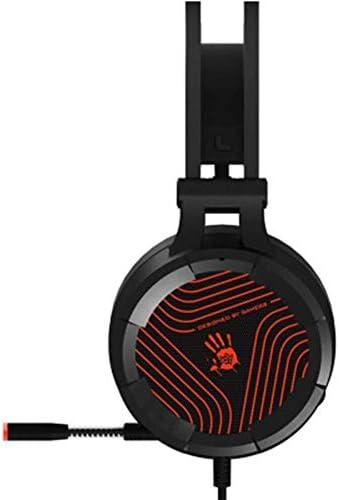 HNSYDS ゲームイヤホンブラックヘッドマウント小麦イヤホンと調整可能なソフトで繊細な防音効果に優れています ゲーミングヘッドセット