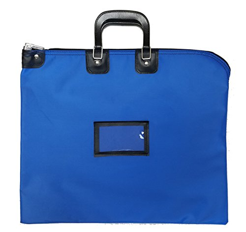 Locking Document Hipaa Bag 16 X 20 With Handles  Royal Blue
