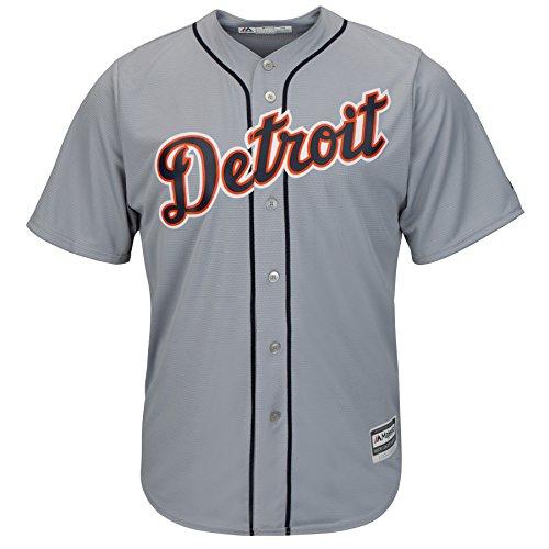 Majestic Detroit Tigers Road Gray Cool Base Jersey (XL)