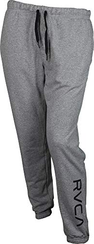 (RVCA Men's VA Guard Fleece Sweatpant, Heather Grey,)