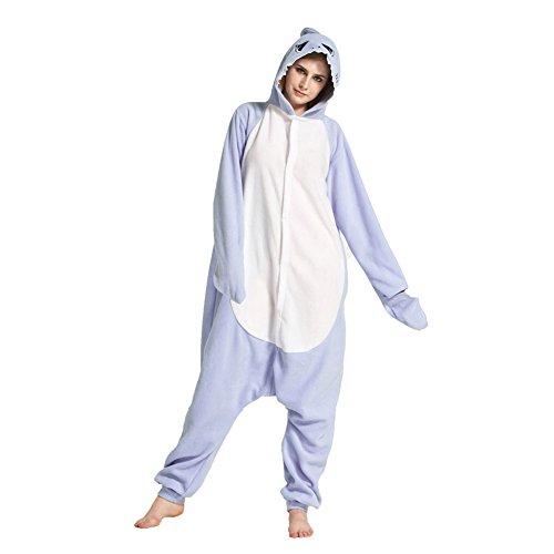 着ぐるみ 大人用 パジャマ 動物着ぐるみパジャマ サメ着ぐるみ 男女兼用 (M)