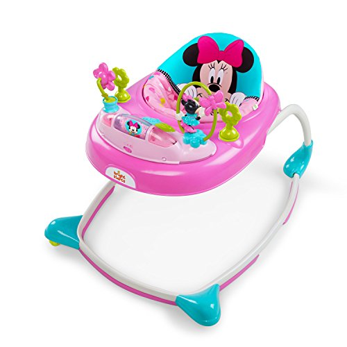 Disney Baby Minnie Mouse Peek-A-Boo Walker, Pink (Best Baby Walker For 1 Year Old)