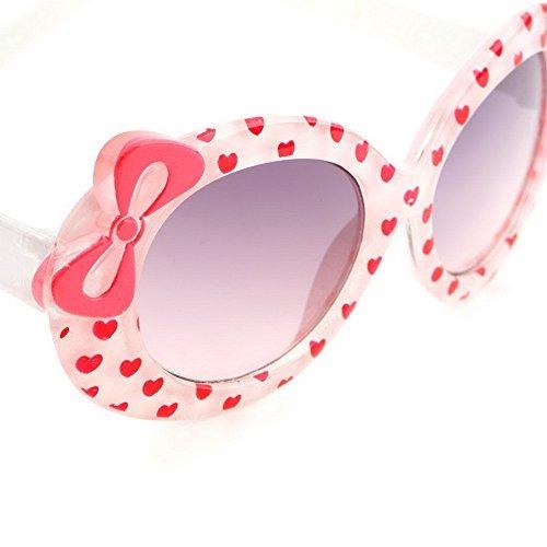 KIDS Multicolor cateye bow design heart print Plastic sunglasses glasses - Sol Oculos De Masculino
