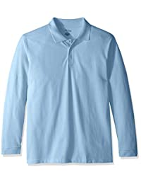 Classroom School Uniforms Boys Adult Unisex Long Sleeve Pique Polo Polo Shirt