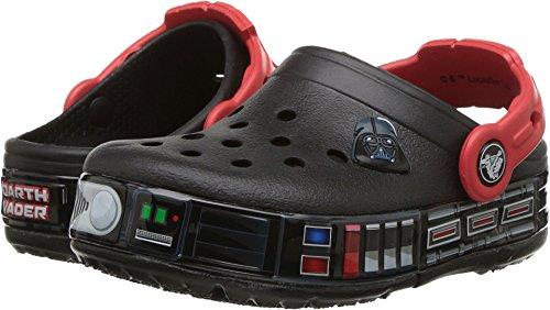 Crocs Kids' Crocband Fun Lab Darth Vader Lights Clog, black, 9 M US -