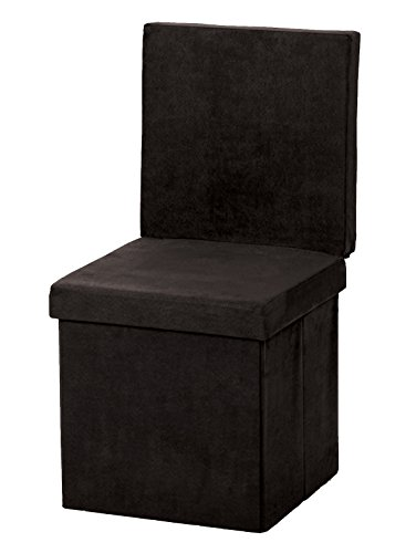 The FHE Group Folding Chair/Ottoman, Black Suede