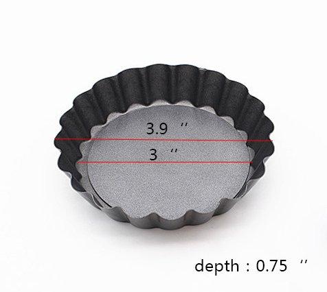kaptin 3,9/pulgadas extra/íble en la parte inferior tartas y quiches sartenes antiadherente Mini sartenes juego de 6
