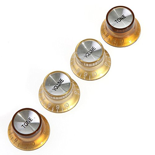 Speed Guitar Control Knobs Set of 4 Gold - 4