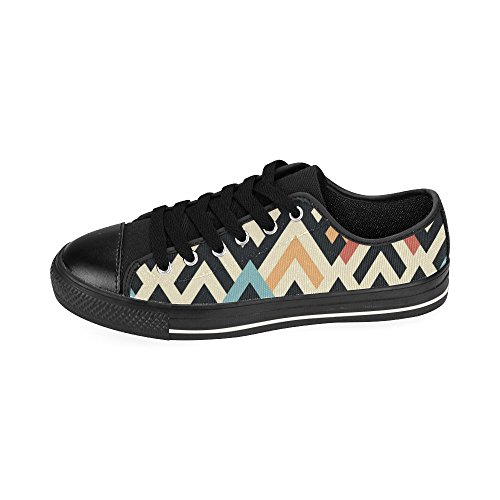 InterestPrint Skulls Classic Canvas Slip-On Shoes for Men Raster Geometric Pattern gnKQu8