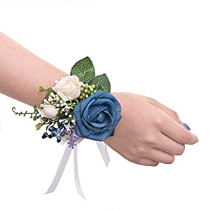 Ling's moment Wrist Corsages Hand Flower for Bride Wedding Porm Party Decor 37