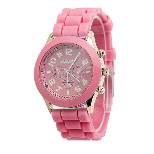 Clearance Unisex Boys Girls Geneva Wrist Watch on Sale,Quealent Unique Numeral Womens and Mens Geneva Silicone Jelly Strap Quartz Wrist Watch Fashion Bracelet Waterproof Sports Watch for Teens ()