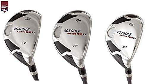 AGXGOLF Men s Magnum XS 3, 4 5 Hybrid Utility Irons Set w Graphite Shafts Covers Right Hand Cadet, Regular or Tall Lengths Built in The USA
